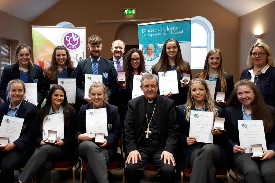 Pope John Paul II participants Kinsale Community School