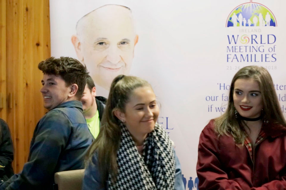 Pope John Paul II Award participants at St Eugene's Cathedral, Derry