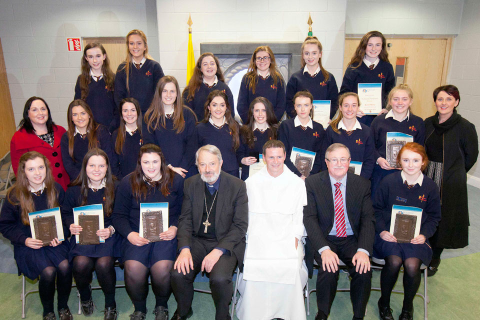 Award recipients from Scoil Mhuire, Roscommon