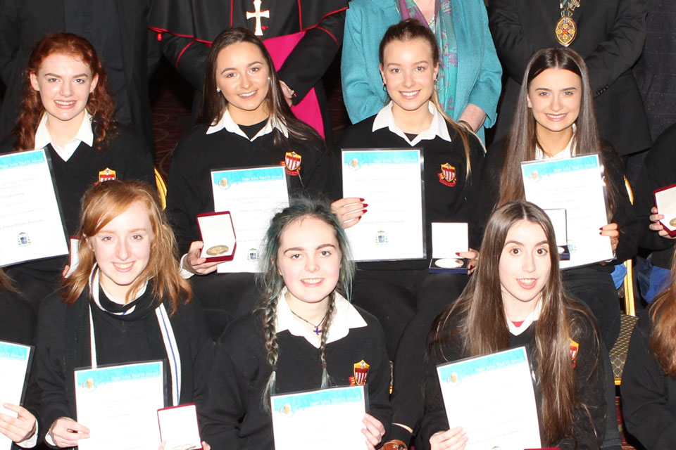 Award recipients at Killaloe annual Award ceremony
