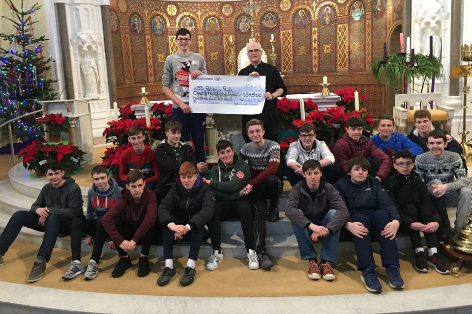 Pope John Paul II Award participants in Clonmel raise over €1,300 for Church Building Fund