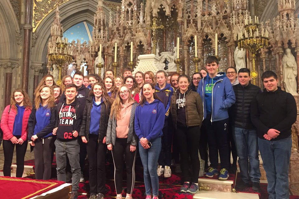 Blackwater Community JPii Award participants at Maynooth