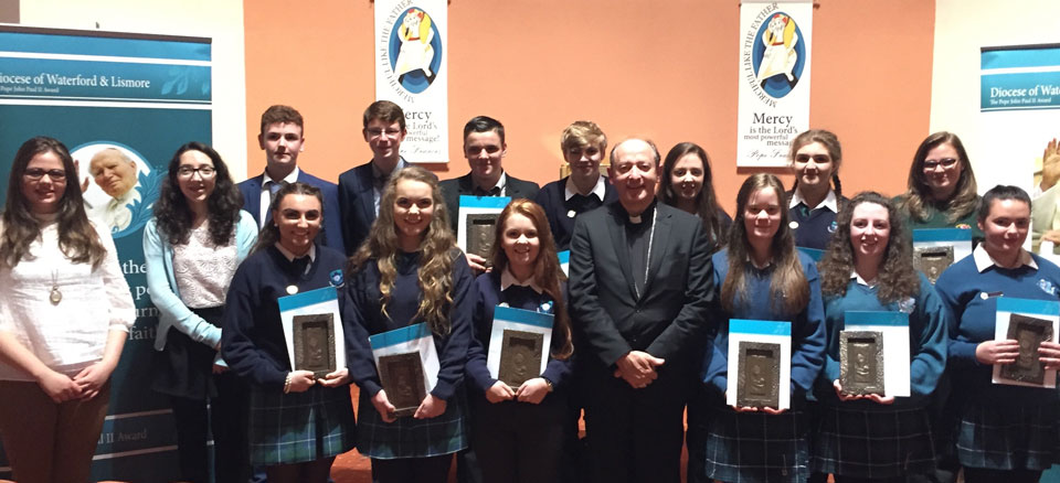 Waterford and Lismore Pope John Paul II Award recipients