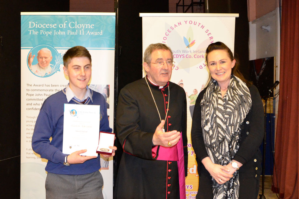 Bishop Crean of Cloyne at the Award ceremony 2016