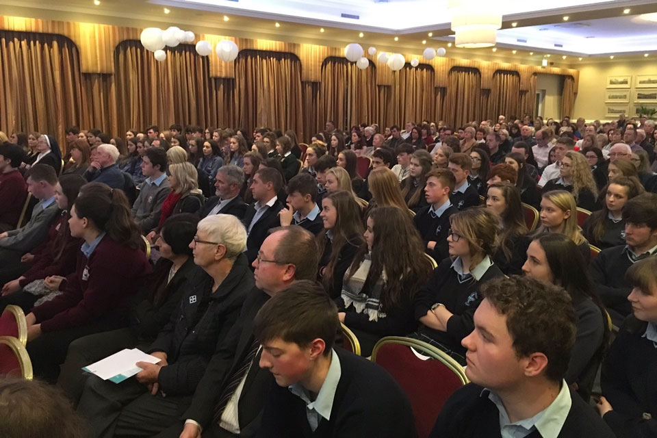 The crowd at Killaloe Award ceremony
