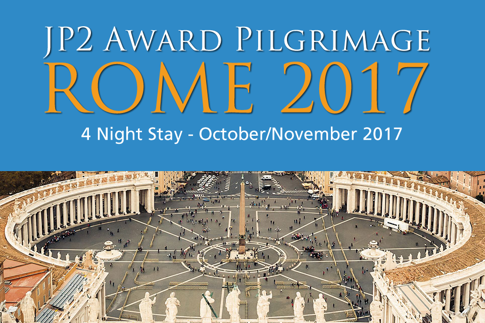 Pope John Paul II Award Pilgrimage Banner