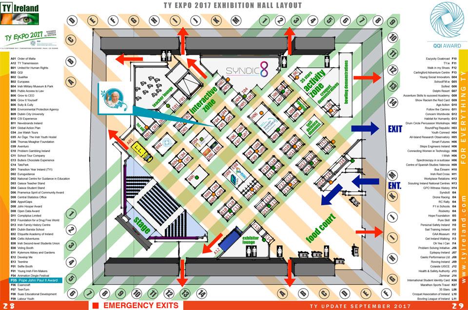 TY Expo 2017 Exhibition Floorplan