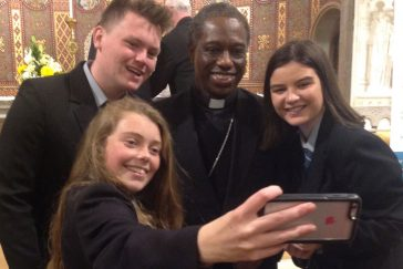 Papal Nuncio to Ireland Archbishop Okolo with JP2's
