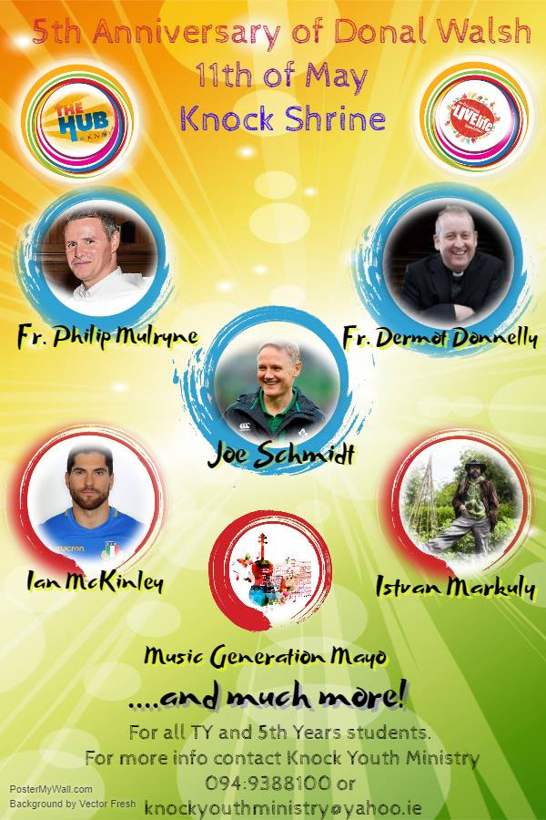 Donal Walsh 5th Anniversary Event Poster