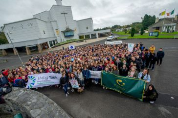Pope John Paul II Award pilgrims at Knock Shrine